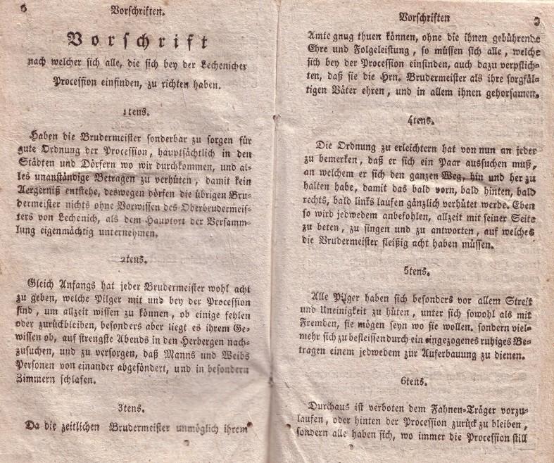Lechenicher Wallfahrtsbuch von 1818